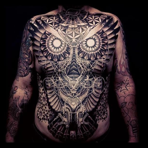 Killer torso tattoo by Matthew Hitt!