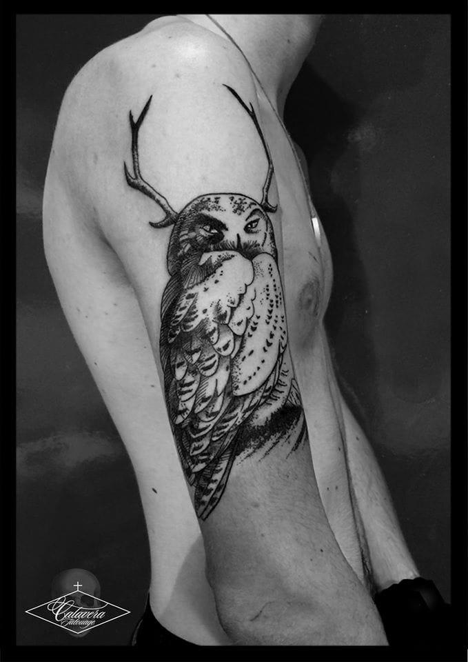 Beautiful tattoo made at Calavera Tattoo.