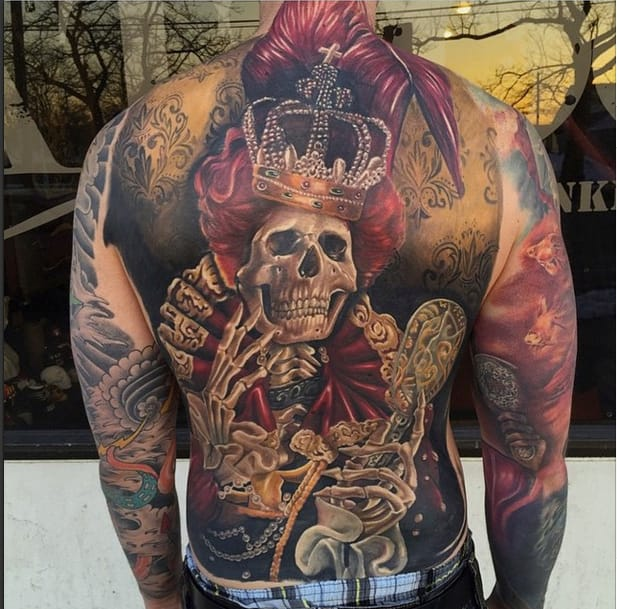 Epic backpiece by Mike Carro inspired by Moni Marino.