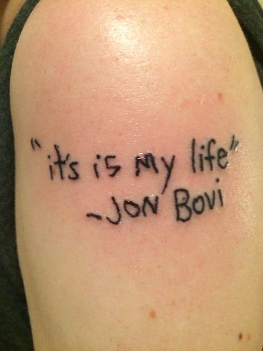 Bon Jovi tattoo fail