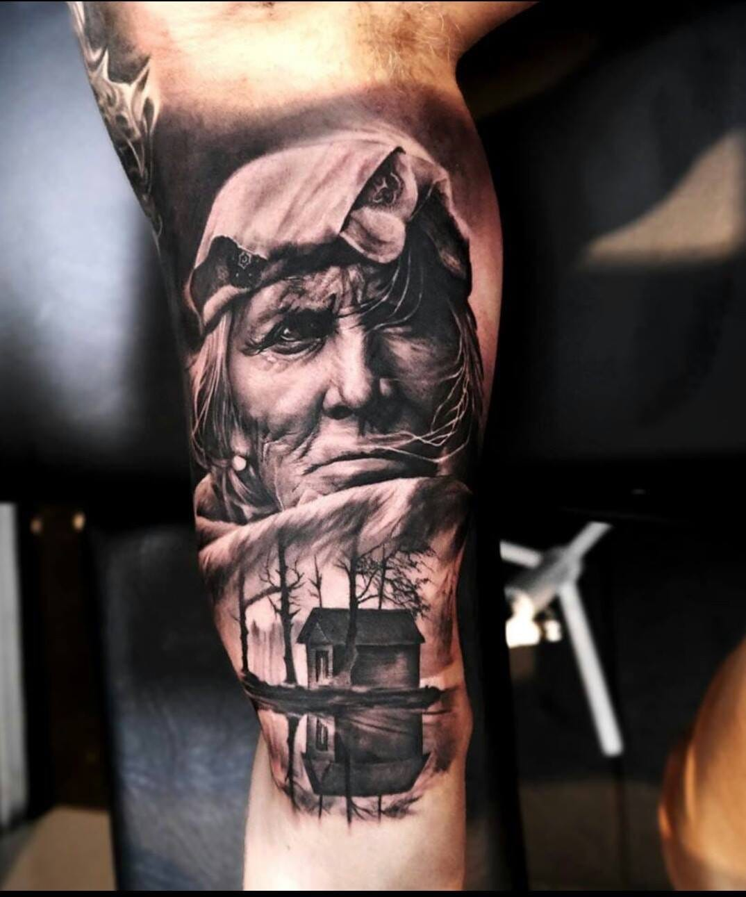 Creative and abstract tattoo by Oscar Akermo