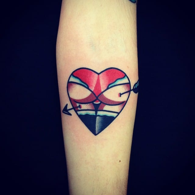 With an Arrow by Dani Queipo of cult tattoo shop Seven Doors Tattoos in London.