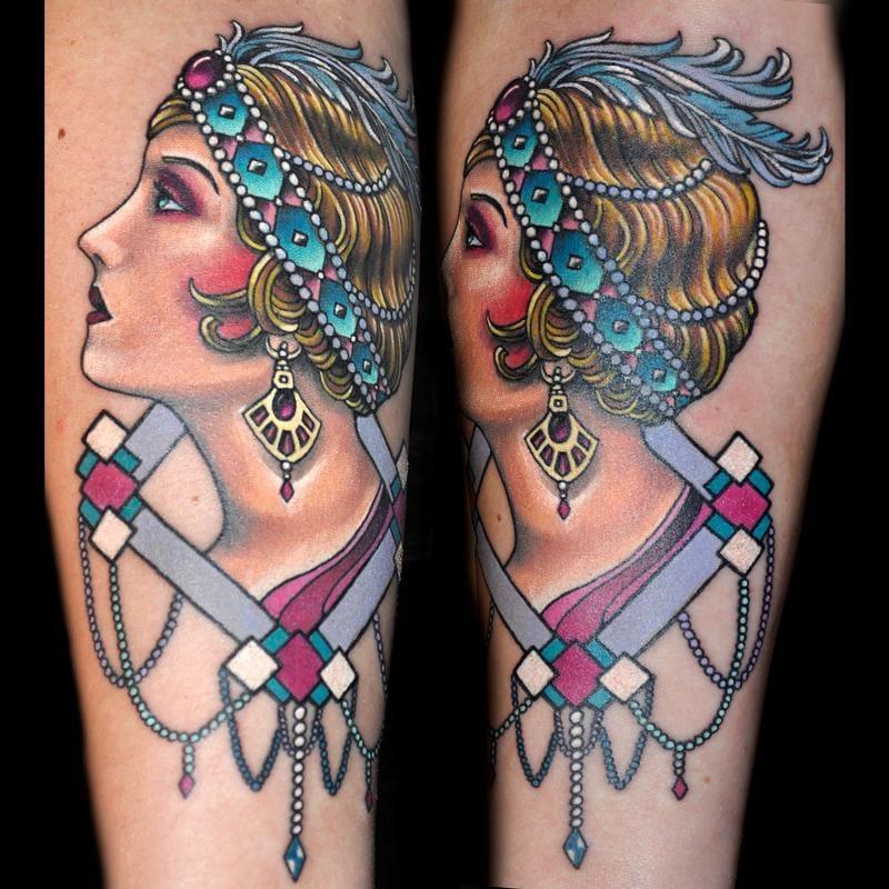 12 Elegant 1920s Flapper Tattoos