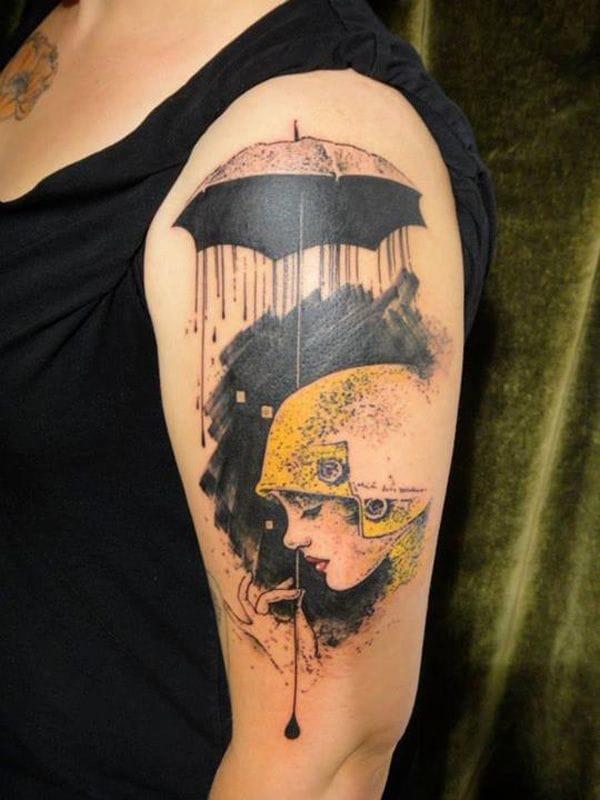 Poetic flapper tattoo by Xoil.