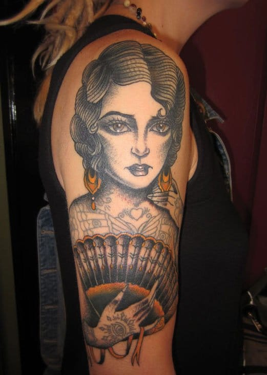 Flappers were the first women of history to get tattoos! Here's a tribute by Stacey Martin Smith.