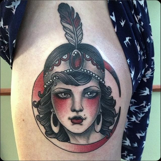 Love this hip tattoo by Jean Le Roux!