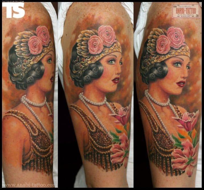 Cool work by Anabi Tattoo!