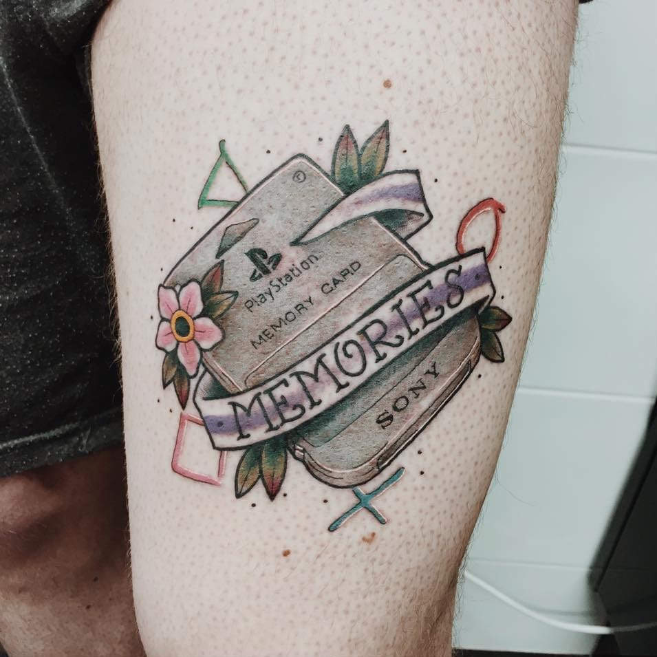 PlayStation Tattoos that Prove It's Never GAME OVER