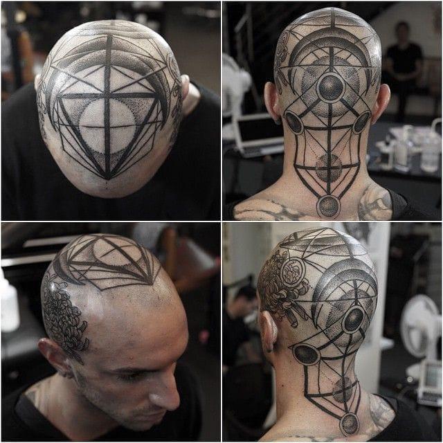 Plenty of other sick head tattoos on the portfolio of MxM.