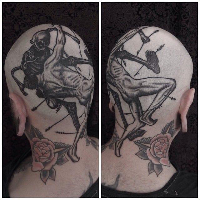 Dark tattoo by Rafel Delalande.