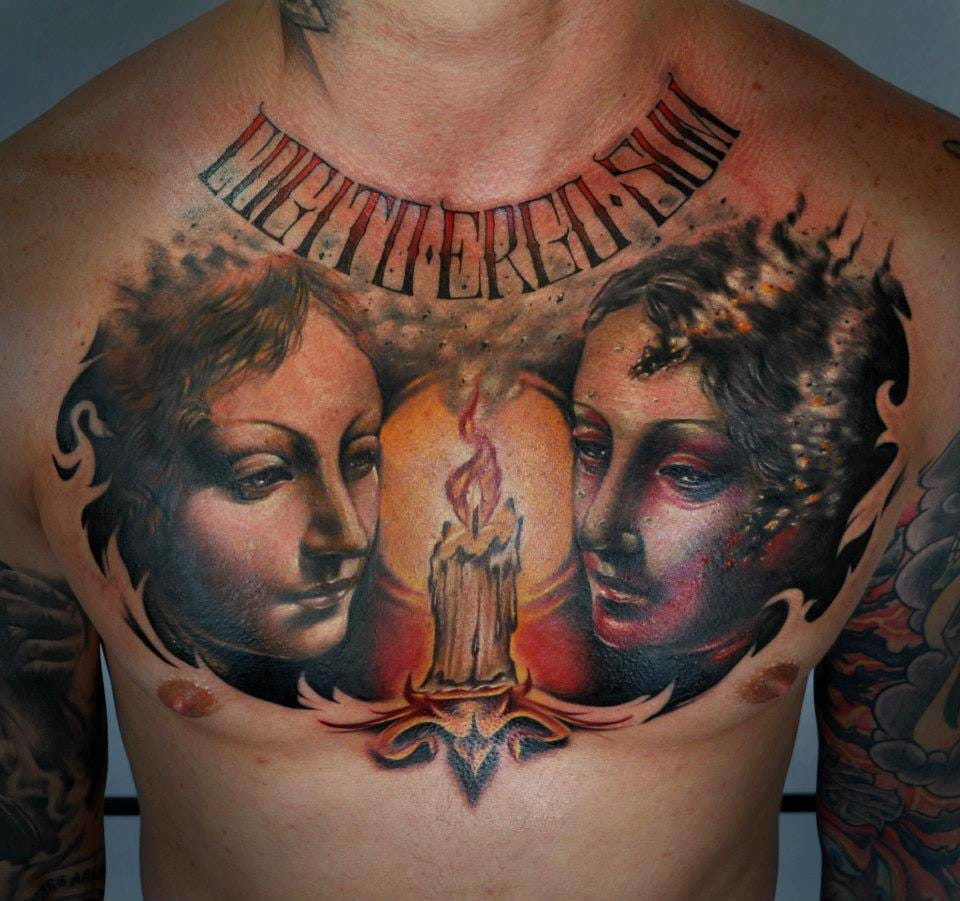 Angelic chestpiece by Benjamin Laukis.