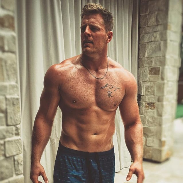 J j watt and his special chest tattoo tattoodo for Does tom brady have a tattoo