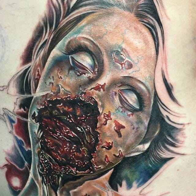 28 More Gruesome Zombie Tattoos