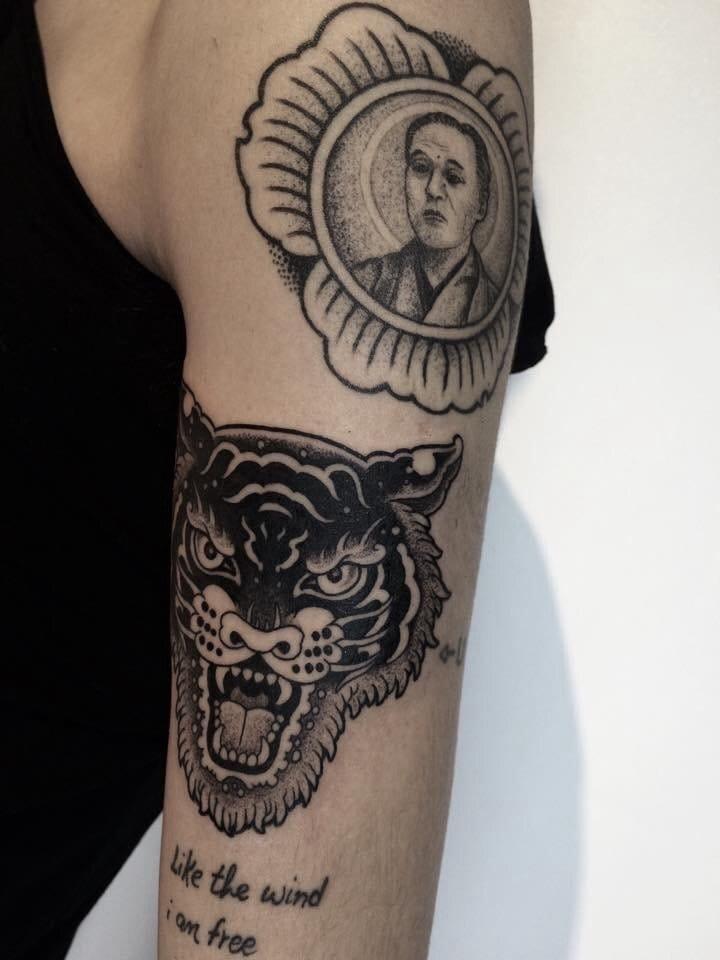 Awesome tiger blackwork