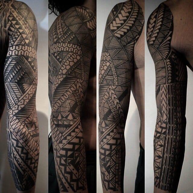 Beautiful geometrical tattoo design