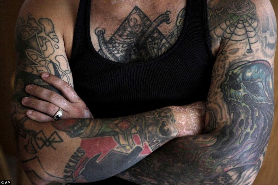 Tattooed Bryon Widner