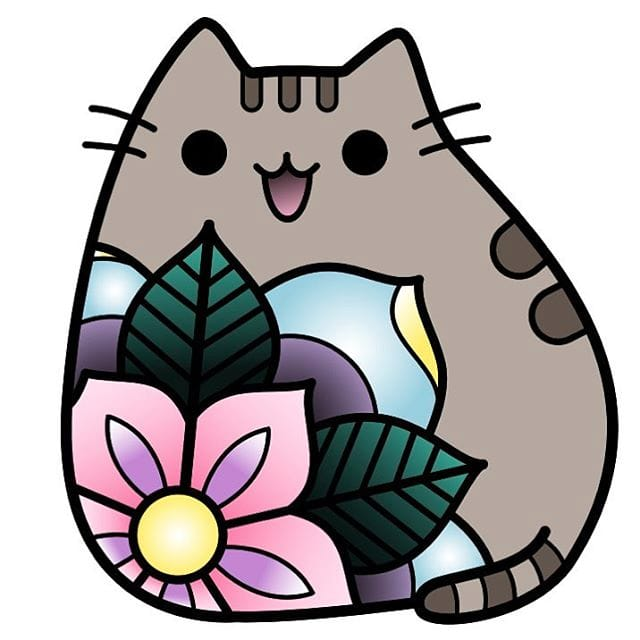 how to draw a cute pastel pusheen