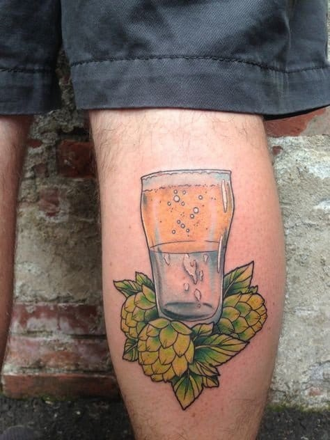 What kind of drink would you prefer? Awesome beer tattoo