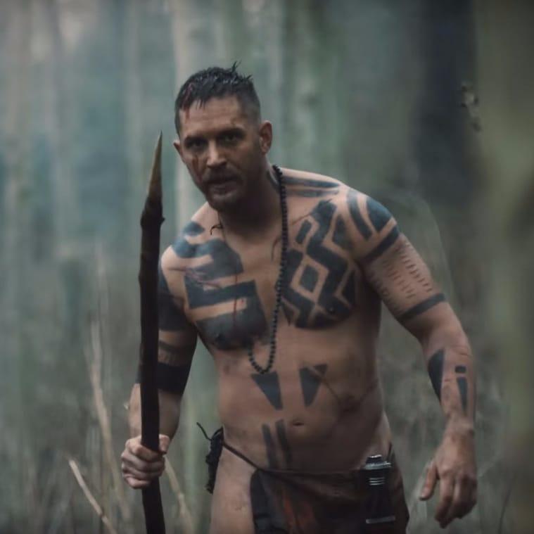 wowaweewah look at shirtless tom hardy in taboo tattoodo