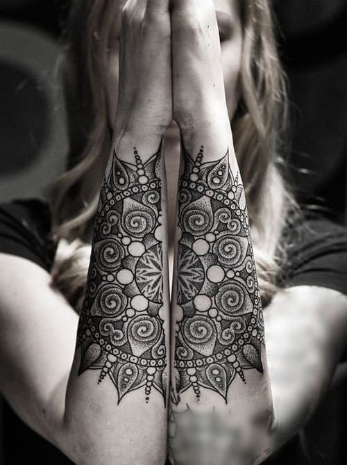 a combined sun tattoo