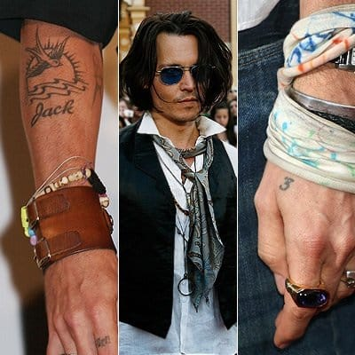 Johnny Depp got the number 3 because he believes it to be his lucky number.