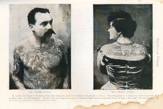 In the 1870s, tattoos were a mark of wealth among the elites in Europe