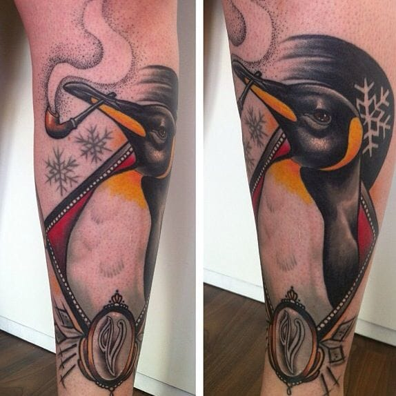 15 Pleasing Penguin Tattoos