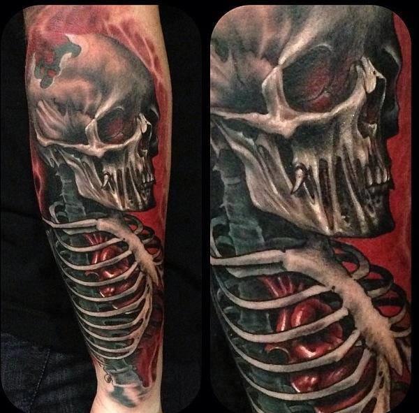 Spooky tattoo by Bili Vegas.