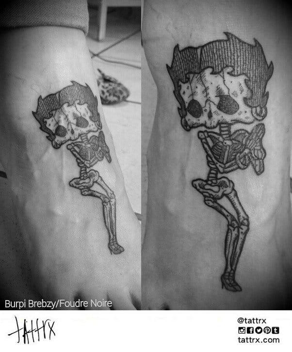 Fun Betty Boop skeleton tattoo by Burpi Brebzy...