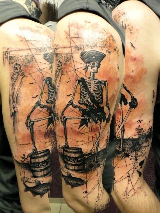 A fun pirate skeleton by Xoil.