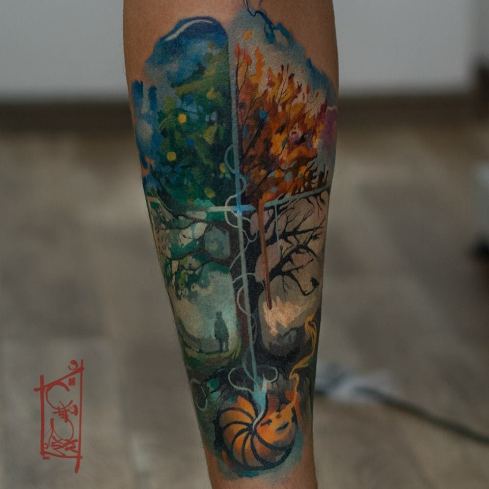Poetic tattoo by Tim Craft.
