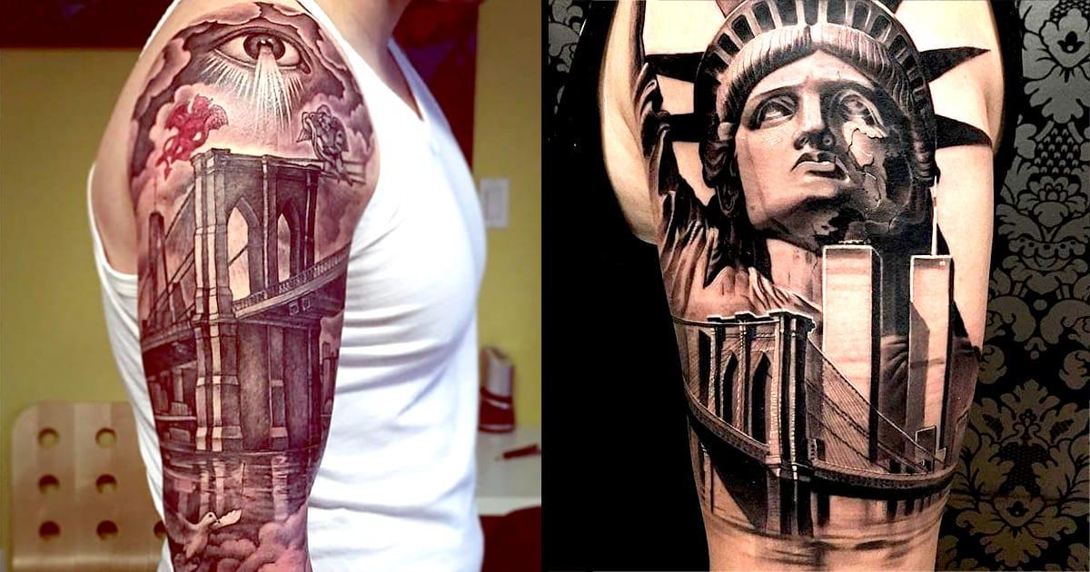 Show your brooklyn pride with a brooklyn bridge tattoo for Tattoo shop brooklyn