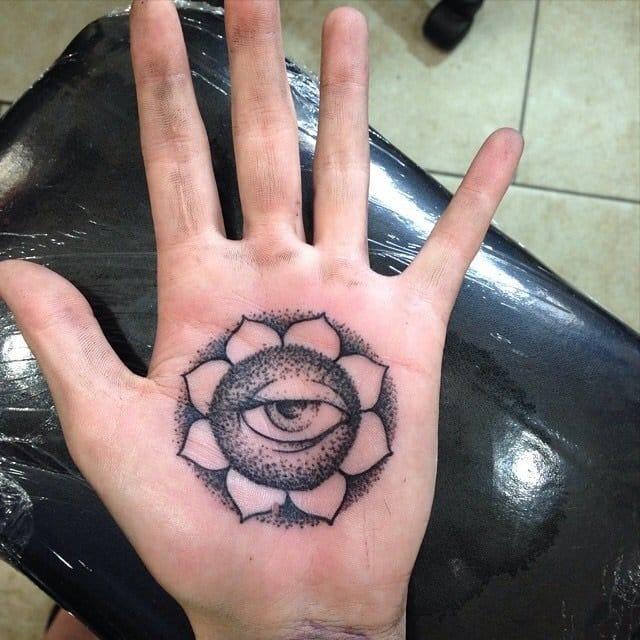 Dotwork geometric mandala tattoo. by Chase of Til Death Denver Tattoo.