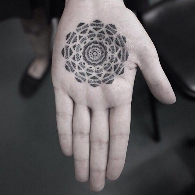 Amazing full dotwork tattoo. by Kenji Alucky.