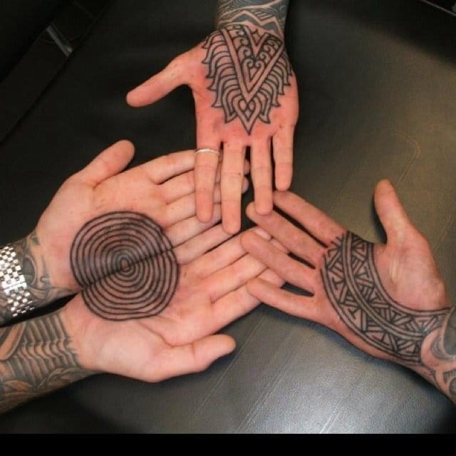 Blackwork tattoos. by Curly Moore.