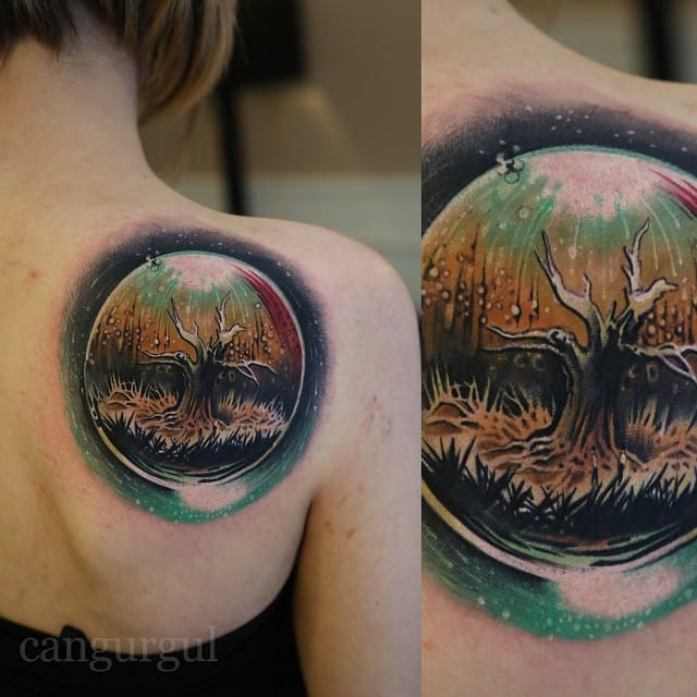 Fantasy tattoo by Can Gürgül inspired by movie The fountain. Have you seen it? #tree #fantasy