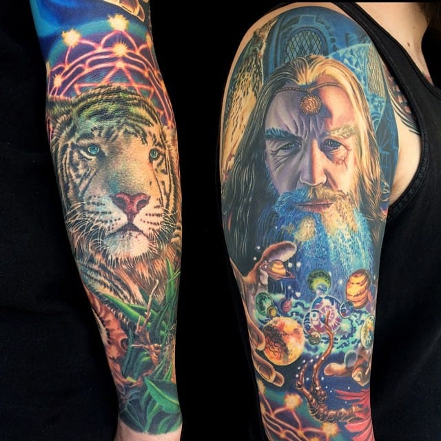 Amazing esoteric sleeve by Jamie Schene... Wait, is that Gandalf???