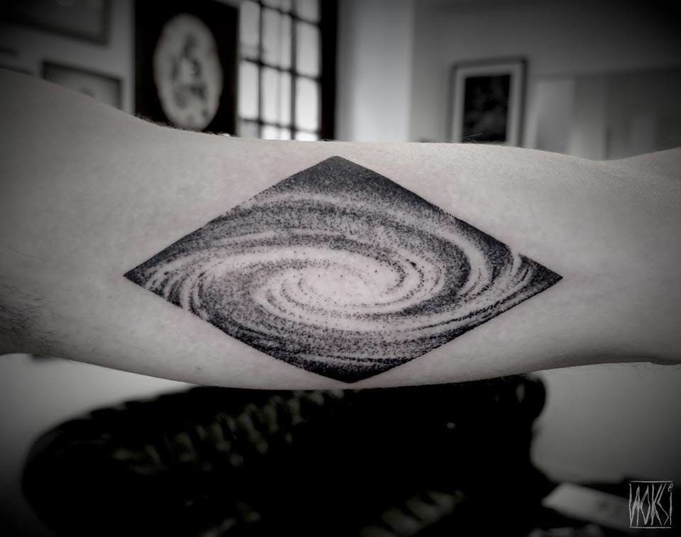 Dotwork galaxy by Noksi.