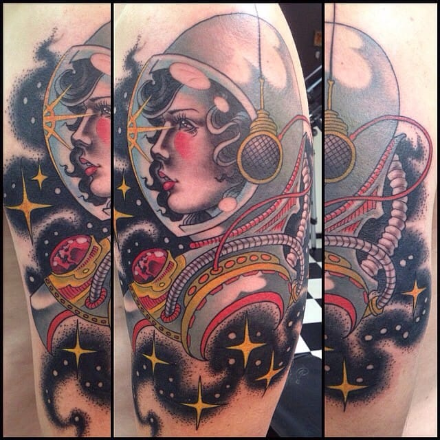 Lovely traditional cosmonaut girl by Travis Hulsh...