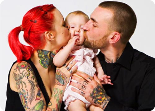 Awesome tattooed family picture