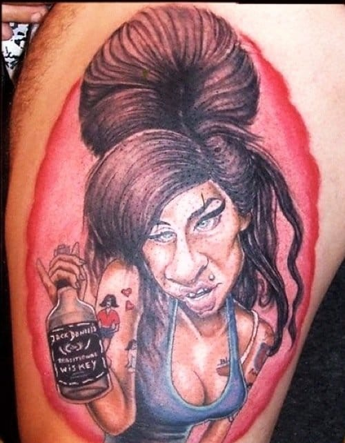 One hell of a fail... Horrid caricature of late singer Amy Winehouse. Why???