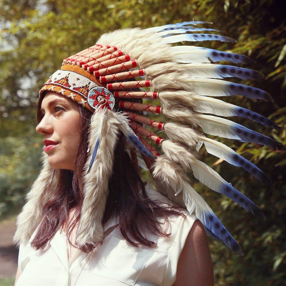 Native American Girl Headdress 25 Feather Tattoos Tha...