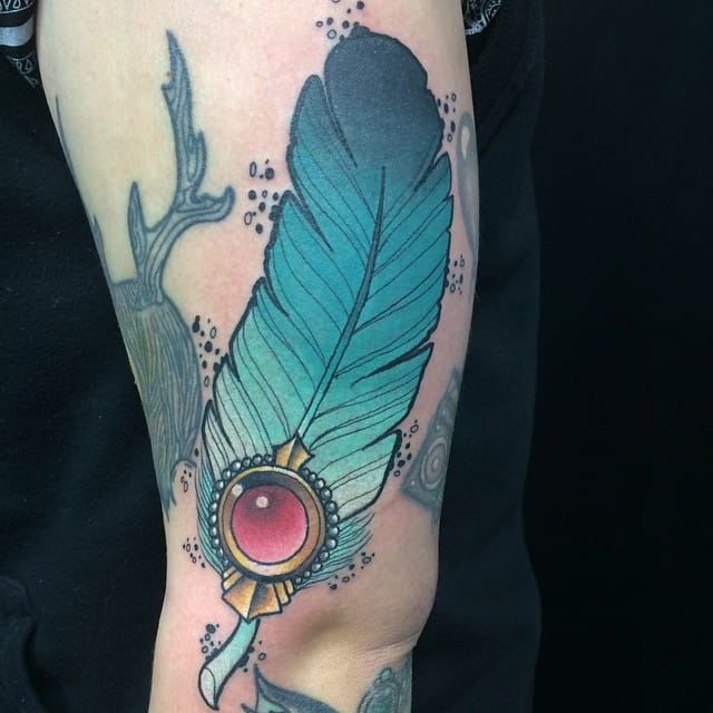 by Michael Kenny of London, Ontario  #feather #feathertattoo