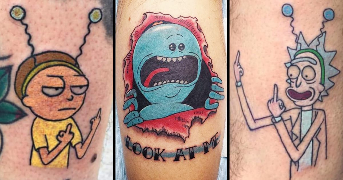 Rick And Morty Tattoo: Get Schwifty With These Rick And Morty Tattoos