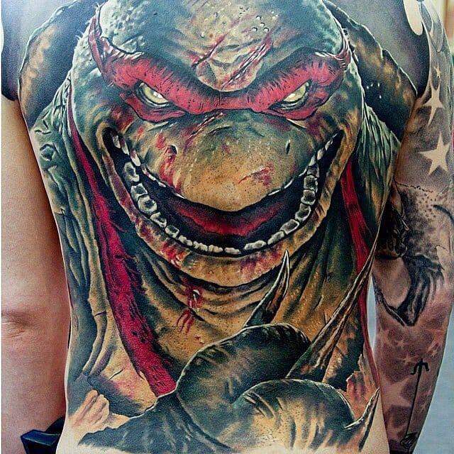 25 Kickass Ninja Turtle Tattoos