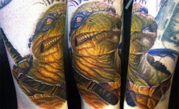 Stunning Leonardo tattoo by Chip Rutz