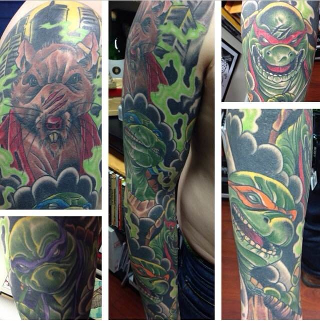 Love this turtle sleeve by Johnny Fry