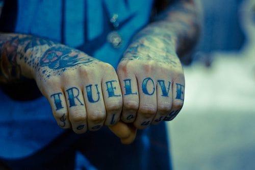 #truelove #knuckletattoo
