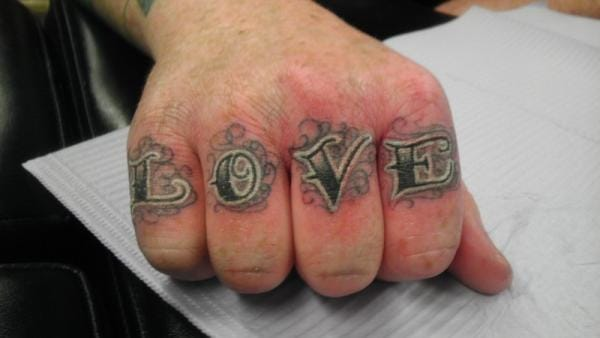 #love #knuckletattoo