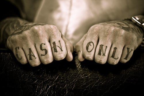 #cashonly #knuckletattoo